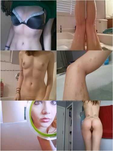 Kinky Redhead Teen Having A Bath + 25gifs
