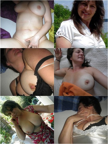 47-year-old Brunette From Germany Shows Her Big Tits