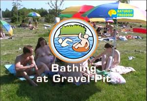 Naturist Freedom. Bathing At Gravel Pit.