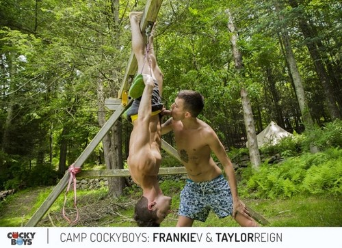 CockyBoys – Frankie V & Taylor Reign (Camp CockyBoys)