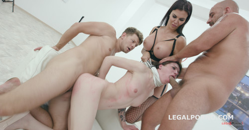 LegalPorno.com - Monika Wild, Jasmine Jae - Limit overcoming Part1 - Total abuse and degrading of Monika Wild by Jasmine Jae - Submission / Foot Fetish GIO434
