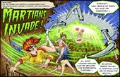 Pulptoon Martians Invade Two Parts and Posters