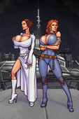 Boobsgames - Leia and Mara Star Wars - Ongoing