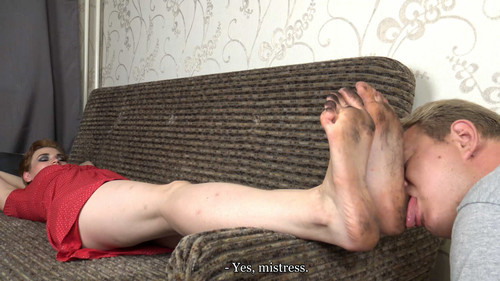 Gloria - dirty foot worship Full HD