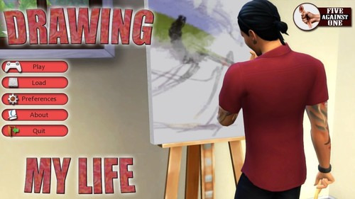 Free download porn game: Five Against One - Drawing My Life Intro - Version 0.1