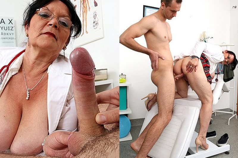 Skinny granny and doctor sex video