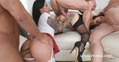 LegalPorno.com - Double Addicted with Anal fisting Lily Lane & Dominica Phoenix Balls Deep Anal / DAP / Gapes / Fisting GIO660
