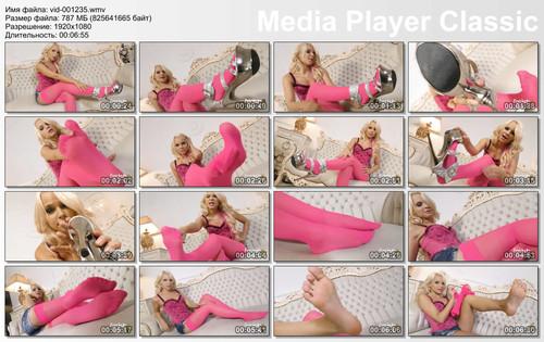 Miss Serena Pink Stockings - FULL HD WMV