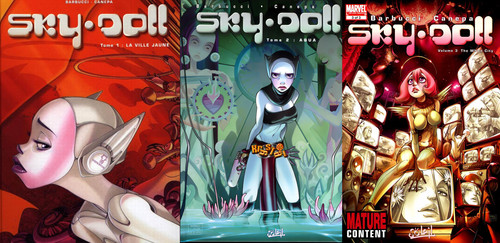 Alessandro Barbucci - Sky Doll Chapters 1-3 and Spaceship Collection 1-2 + Pin-Ups
