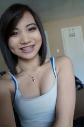 Horny sucking for asian teen
